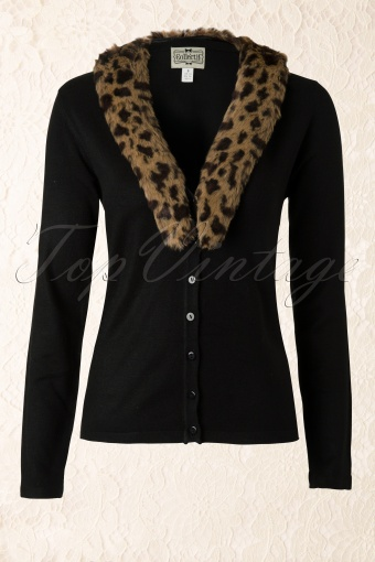 Collectif Clothing  Leopard Fur Cardigan 140 10 12134 20140113 0003W