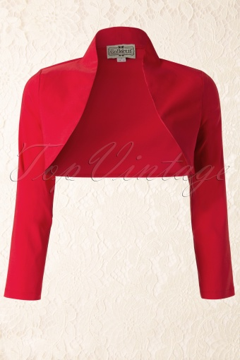 Collectif Clothing  Audrey Bolero Red 141 20 12112 20140113 0006W