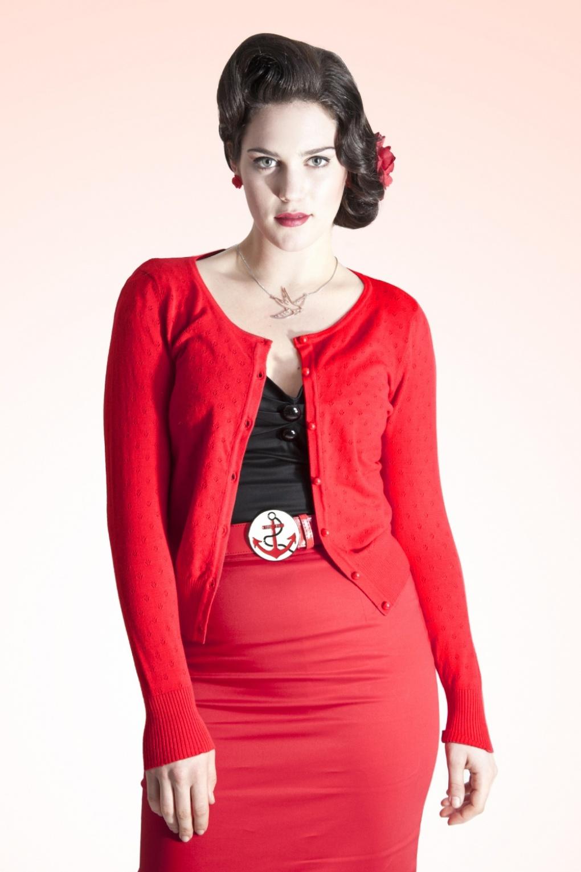 50s Freddie Cardigan Vintage Red