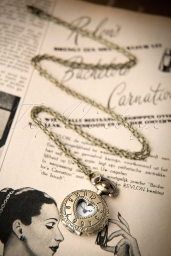 From Paris with love  Vintage Heart Pocket Watch Necklace 300 91 12177 20140123 0020W