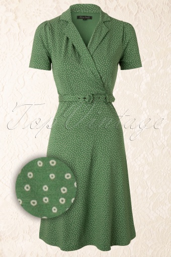 King Louie  Heidi Dress Green 107 49 12282 20140115 0005WVergrootglas