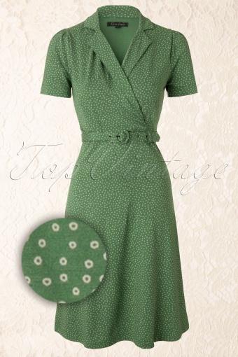 King Louie  Heidi Dress Green 107 49 12282 20140115 0005WVergrootglas