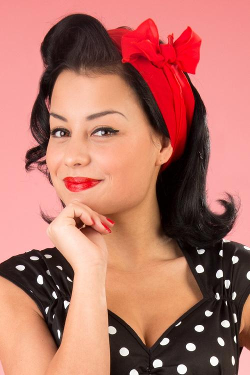 Pinup Couture TopVintage exclusive ~ Natasha Dress in Black White polka sateen 44 4587 20130228 0226