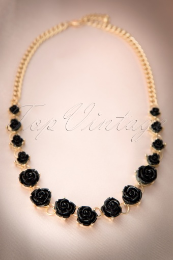 From Paris with love  Black Rose Necklace 301 10 12167 20140123 0006W