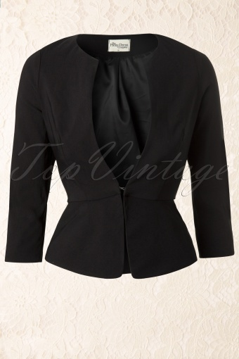 So Couture  Peplum Jacket Black 150 10 12298 20140127 0006W