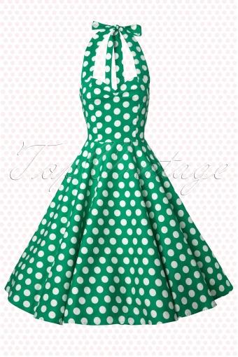 Bunny  Green mariam dress Meriam Dress Swing Polkadot  102 49 12011` 20140129 0004W