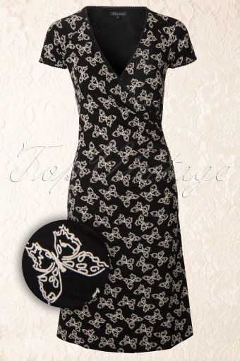 King Louie  Black Cross Dress Butterfly 107 14 12400 20140203 0001W