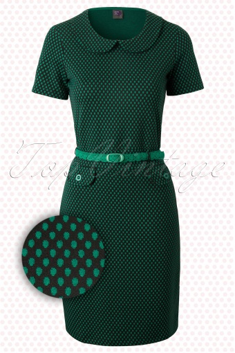 Wow to Go!  Root Wow Dress Green Black Polkadot 107 49 12319 20140204 0003W