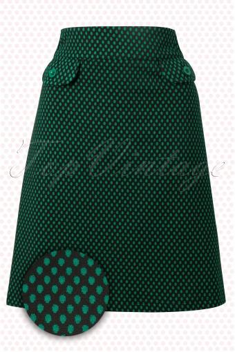 Wow to go!   Stern Wow Skirt Green Black polkadot 123 49 11507 20140204 0001W