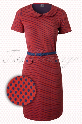 Wow to Go!  Root Wow to Dress Red Blue Polkadot 107 27 12318 20140204 0004W