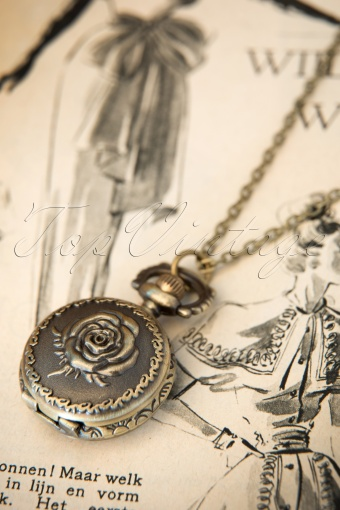 From Paris With love   Petit montre Rose zakhorloge brons ketting 12178 20140205 0006W