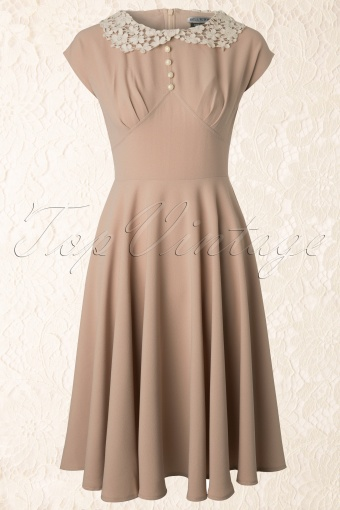 Bunny  40s Emillie Dress in Beige 102 52 12485 20140207 0008W