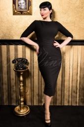60s Vickie Criss Cross Dress in Black