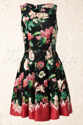 Yumi  The Quixotic Dress Black Flowers 105 14 12487 20140211 0001W
