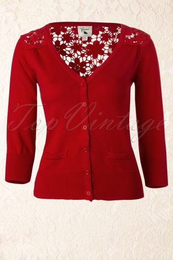 Yumi  The Pretty Cardigain Red Lace 140 20 12491 20140211 0002W