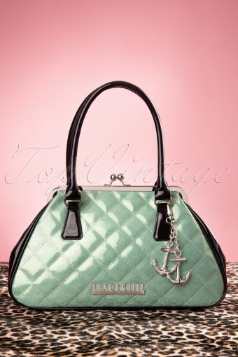 Lux De Ville  Bon Voyage Mint Green Bag  212 10 12058 20140212 0025W