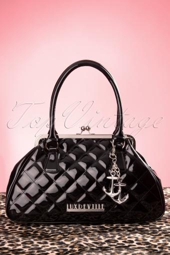 Lux De Ville  Bon Voyage Kiss Lock Black Bag  212 40 12059 20140212 0003W