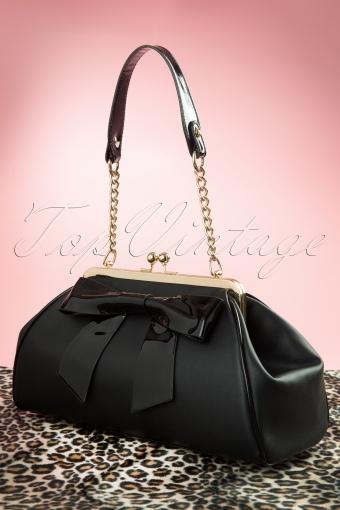Pinup Couture  Bow Handbag Black 212 10 11933 20140213 0010W