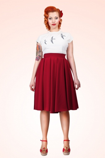Alison Swing Skirt Red 1V