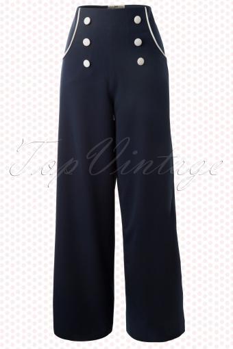Collectif Clothing  Bernadette Sailor Pants 131 31 12546 20140214 0007W