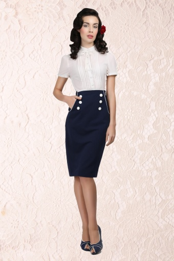 Bernadette Skirt Navy ps
