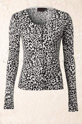 Vixen  Cardigain White Leopard Print 140 59 12562 20140219 0003W