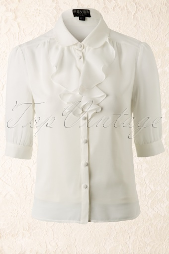Fever  50s Positano blouse Cream 12162 20140217 0011W