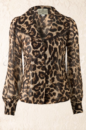 Collectif Clothing  Patricia Leopard Blouse 112 58 12539 20140217 0001W