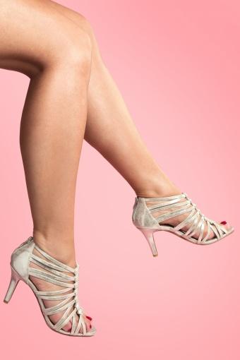 Tamaris  30s Elegant Silver Strap Sandals  11830 20140224 0002