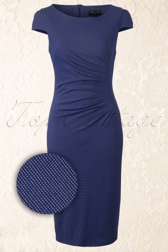 Fever   Micro Dot Blue Dress 101 39 12158 20140306 0008W