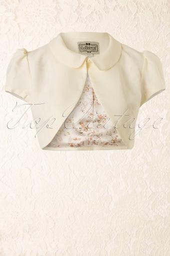 Collectif Clothing 50s Elizabeth Bolero Ivory 10257 20140311 0003W