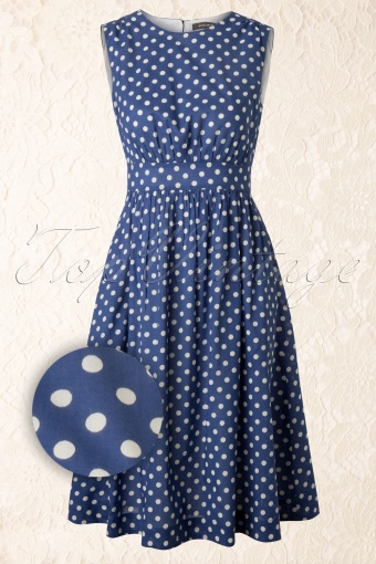 Emily and Fin  Lucy Dress Blue Polkadots 104 39 12605 20140228 0002 FrontW