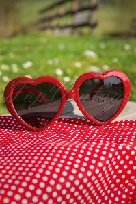 60s Red Hearts Sunglasses