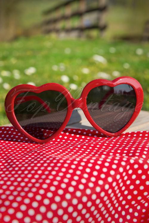 So Retro Heart Sunglasses Red 12909 20140312 0008W