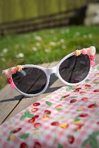 So Retro White Sunglasses With Roses 12914 20140312 0016W