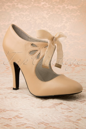 40s Hailee Pumps in Nude