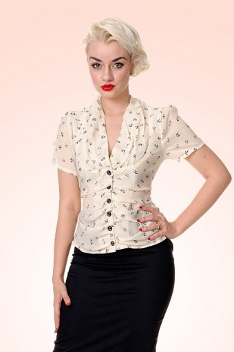 Greta Anchor Blouse SKU09111204 £12
