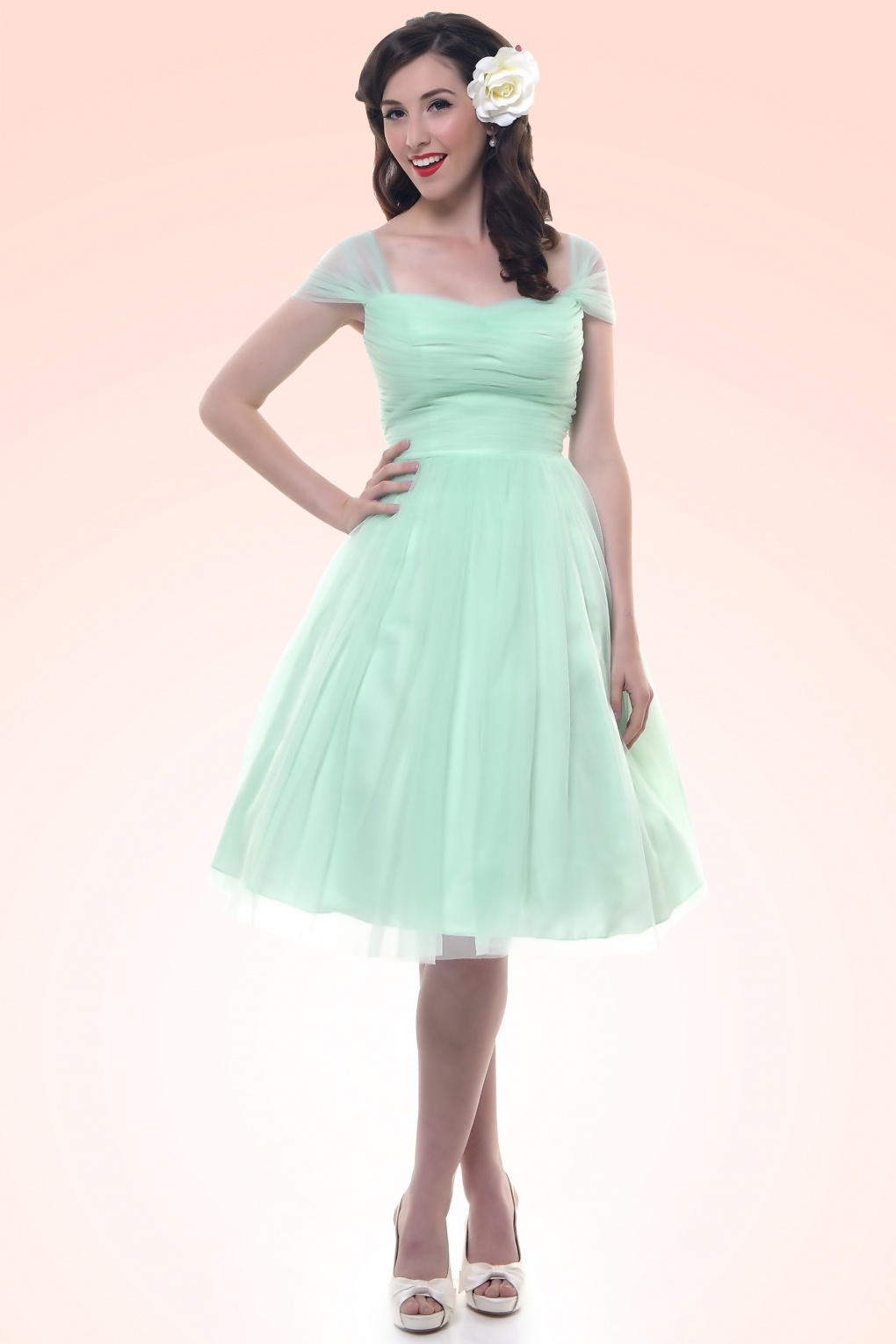50s Garden State Dress In Mint