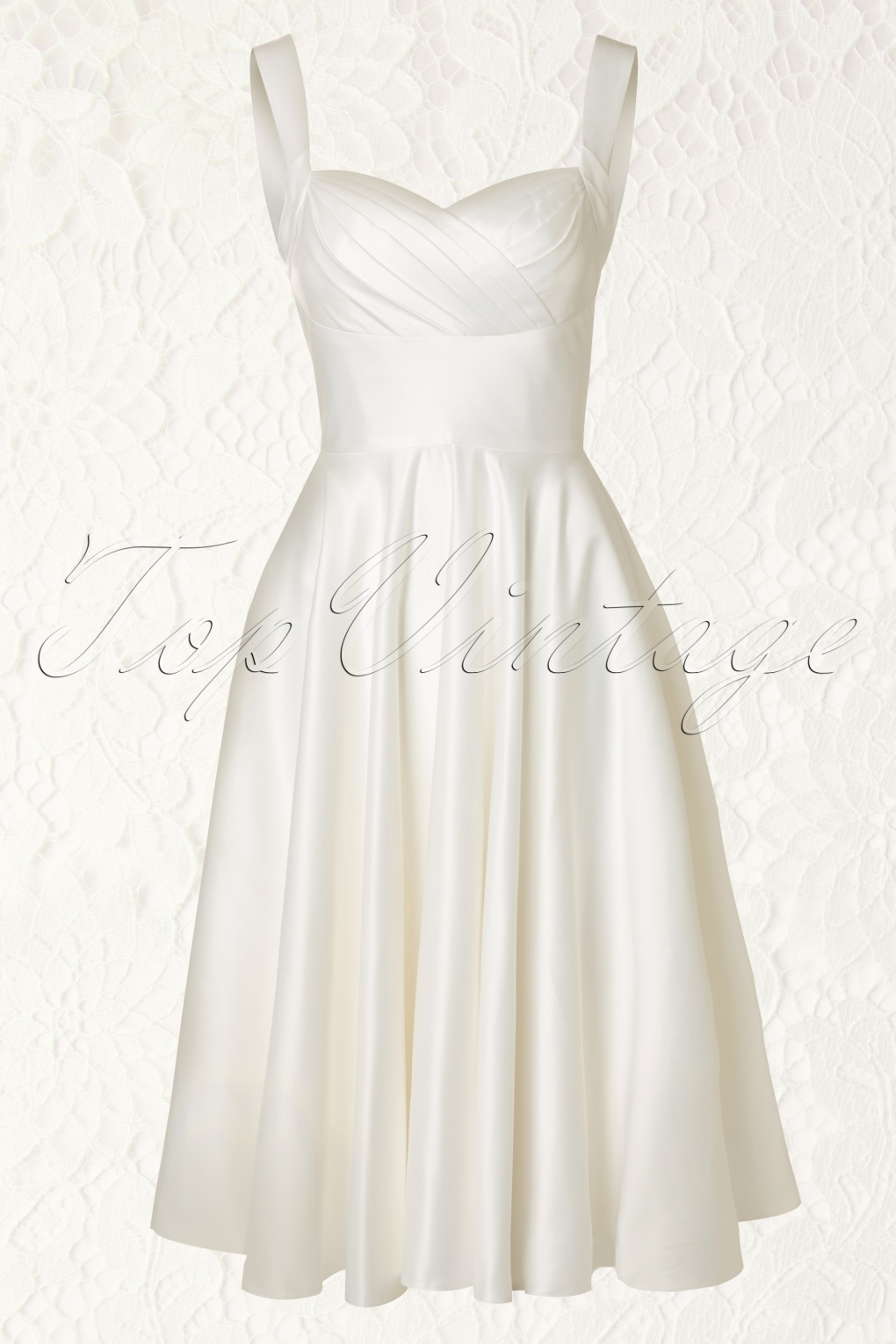 50s happily ever after dress in ivory for Ever after wedding dress