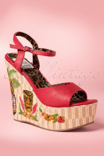 size 40 8d3d8 d28cd Bettie Page Shoes Keke Peeptoe Wedge Heels 420 27 12637 20140415 0005