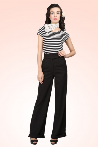 Collectif Clothing Lorenza Pants Black 131 10 13131