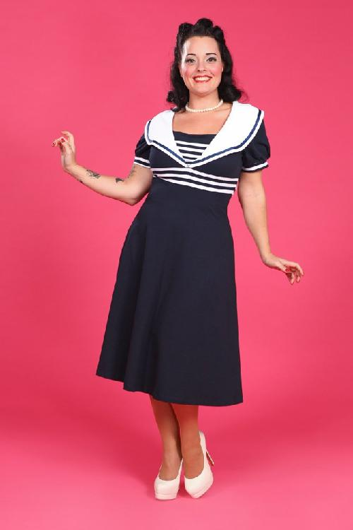 Miss Candyfloss Carla Sailor Dress Navy White 104 31 12870 3