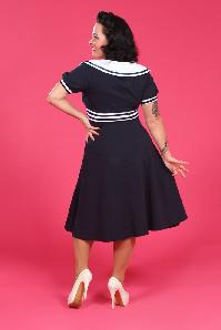Miss Candyfloss Carla Sailor Dress Navy White 104 31 12870 1