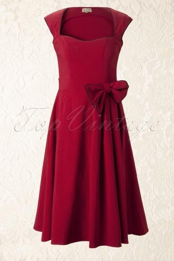 1950 s Grace Red Bow vintage style swing party rockabilly ev 6c1f4f4e46e