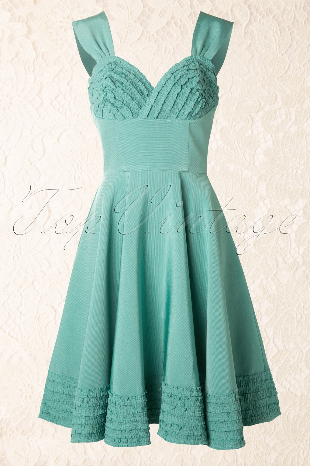 50s Deb Dress in Turquoise