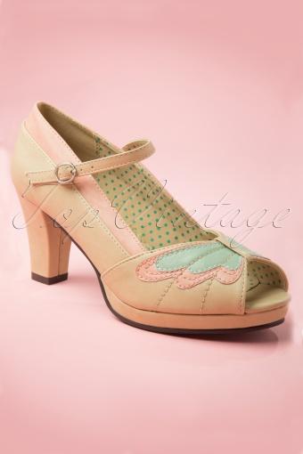 Bettie Page Shoes Aglais Pumps Nude 403 52 140505 20140505 0031W