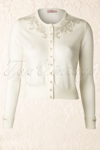 20s Glamour Cardigan in White