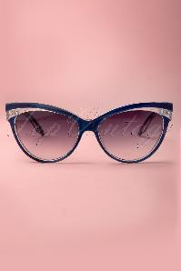 Judy Classic 50s Sunglasses in Navy