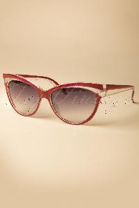 Collectif Clothing Judy Classic 50s Cat Eye Sunglasses Red 260 20 12856 20140516 0010W