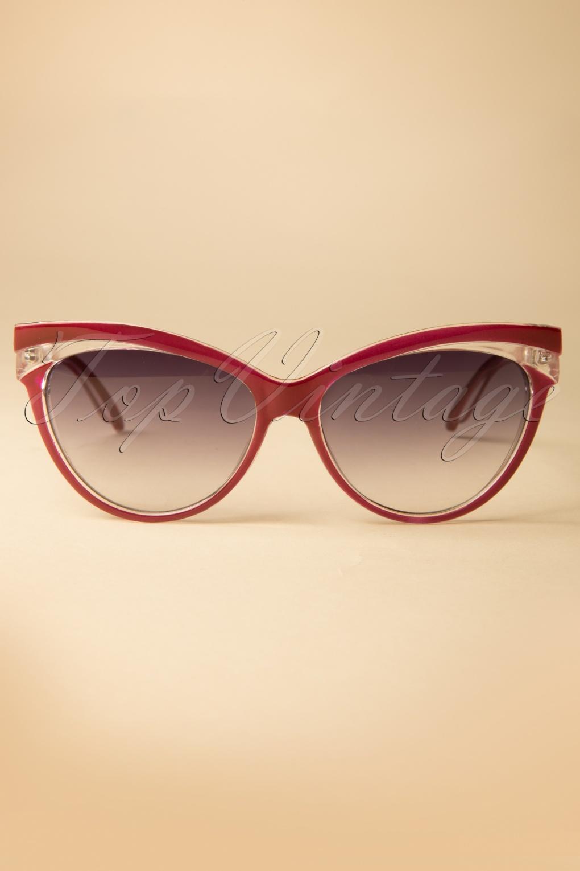 Judy Classic 50s Sunglasses In Burgundy